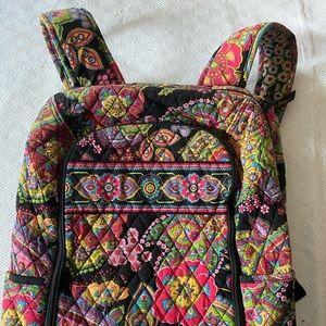 Vera Bradley Laptop Backpack with Rainbow Paisley